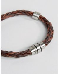 Ted Baker - Weave Bracelet - Brown for Men - Lyst