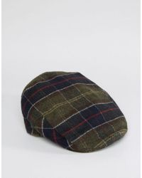 452fac30eb7 Barbour Wool Tartan Flat Cap in Green for Men - Lyst