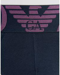 Emporio Armani - Blue Logo Briefs In Navy for Men - Lyst