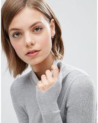 ASOS - Metallic Sterling Silver 9mm Chunky Hoop Earrings - Sterling Silver - Lyst