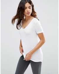 ASOS | White The New Forever T-shirt With Short Sleeves And Dip Back | Lyst