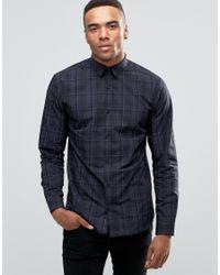 Jack & Jones   Blue Premium Long Sleeve Slim Smart Shirt In Check for Men   Lyst