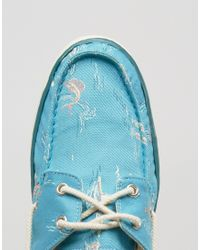 Timberland - Blue Hookset Print Boat Shoes for Men - Lyst
