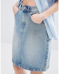 ADPT - Blue Denim Skirt - Lyst