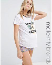 New Look - Purple Pineapple Paradise Pyjama Set - Lyst