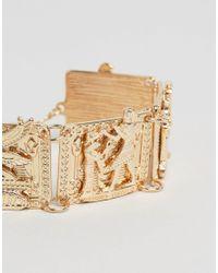 ASOS - Metallic Bracelet With Egyptian Design In Gold for Men - Lyst