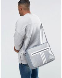 Adidas Originals - Gray Airliner Suede Bag for Men - Lyst