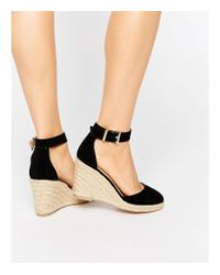 5b49769e73b Lyst - Oasis Asis Espadrille Wedge in Black