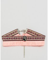 ASOS - Multicolor Festival Fringe Choker Necklace - Lyst