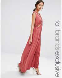 True Decadence | Red Cut Out Detail Maxi Dress | Lyst