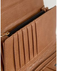 Dune | Brown Purse With Metal Panel | Lyst