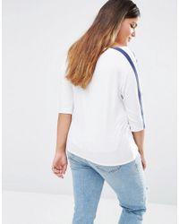 Boohoo - White Stripe T-shirt - Lyst