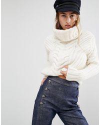 6b92aa09 Tommy Hilfiger. Women's White Gigi Hadid Chunky Roll Neck Sweater