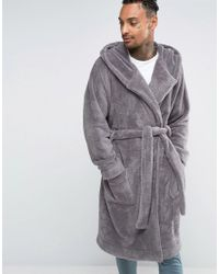 Lyst - Asos Extreme Oversized Dressing Gown - Grey in Gray for Men bc4708ede