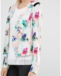Y.A.S - Green Floral Print Soft Blazer - Lyst