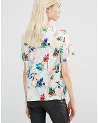 Y.A.S - Green Floral Print Shirt - Lyst