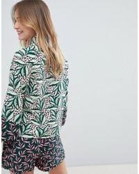 Monki - Multicolor Leaf Print Co-ord Blouse - Lyst