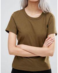 Weekday   Scoop T-shirt - Khaki Green   Lyst