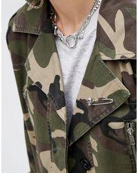 ASOS | Metallic Skull Safety Pin Brooch | Lyst