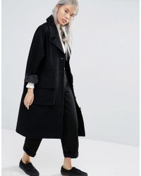 Weekday | Black Pyjama Coat With Hood | Lyst