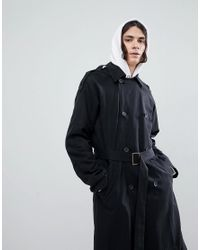 ASOS - Design Oversized Trench Coat In Black for Men - Lyst