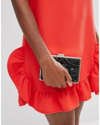 Chi Chi London - Rectangular Embellished Box Clutch In Black - Lyst