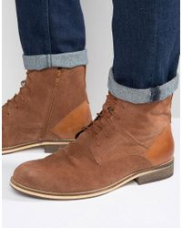 Frank Wright | Brown Lace Up Boot In Tan Suede for Men | Lyst