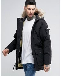 Penfield | Black Hoosac Down Mountain Parka Faux Fur Trim for Men | Lyst