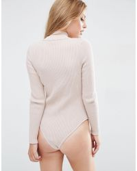 ASOS - Multicolor Body In Rib Knit With High Neck - Lyst