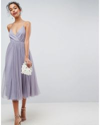 ASOS - Multicolor Pinny Extreme Tulle Mesh Midi Dress - Lyst