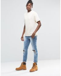 ASOS - Multicolor Short Sleeve Sweatshirt In Off White for Men - Lyst
