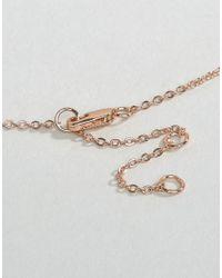 Pieces - Metallic Pline Necklace - Lyst