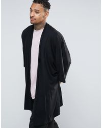 Asos Extreme Kimono Cardigan in Black for Men | Lyst