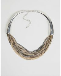 Pieces - Metallic Denize Necklace - Lyst