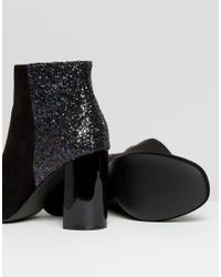 Dune - Black Odessa Faux-Suede Ankle Boots  - Lyst
