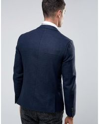 French Connection | Blue Plain Flannel Patch Pocket Jacket for Men | Lyst