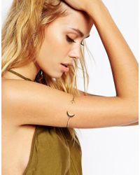 ASOS - Metallic Moon And Star Arm Cuff - Lyst