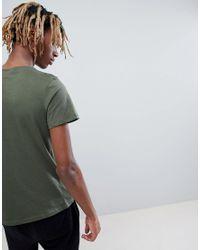 Alpha Industries - Orange Stripe Logo T-shirt In Green for Men - Lyst