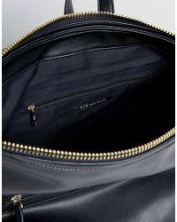Armani Exchange - Black Minimal Backpack - Lyst