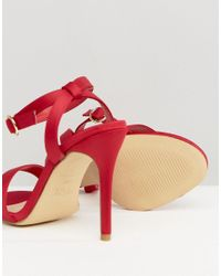 New Look - Red High Minimal Sandal - Lyst