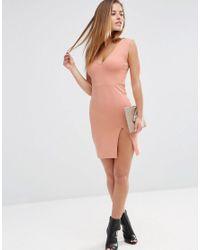 ASOS - Multicolor Bodycon Mini Dress With Thigh Split - Lyst