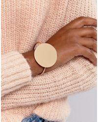 Glamorous - Metallic Circle Detail Cuff Bracelet - Lyst