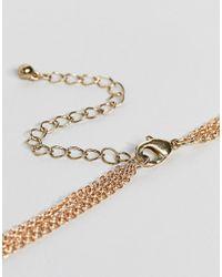 ASOS - Metallic Filigree Pendant Body Chain - Lyst