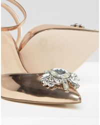ASOS - Natural Society Wide Fit Embellished Heels - Lyst