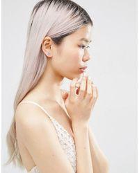 ASOS | Metallic Occasion Mini Flower Crystal Stud Earrings | Lyst