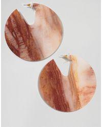 ASOS - Multicolor Earrings In Solid Resin Hoop Design - Lyst