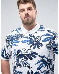 Tommy Hilfiger - Plus Barry Polo Flower Print In White for Men - Lyst