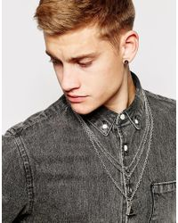 ASOS | Metallic Necklace Pack With Charms In Silver for Men | Lyst