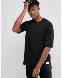 Criminal Damage | Black T-shirt With Dropped Shoulder for Men | Lyst