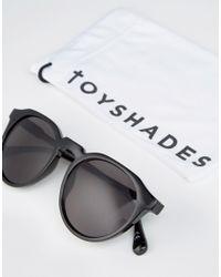 ToyShades - Round Sunglasses - Shiny Black / Grey L - Lyst